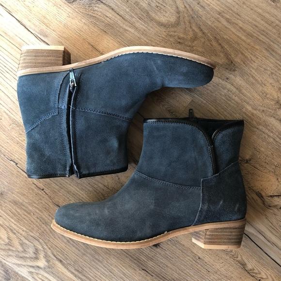 9fe70a60a402 Skechers Womens Ankle Boot Bootie sz 8 Suede Blue.  M 5b8c5d0ff303690eaf135fed